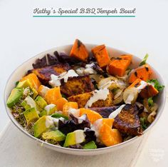 I really need to start doing more creative things with #Tempeh - Kathy's Special BBQ Tempeh Bowl via @lunchboxbunch