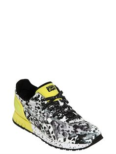 ONITSUKA TIGER PER ANDREA POMPILIO - 'X-CALIBER' MESH&FAUX LEATHER SNEAKERS