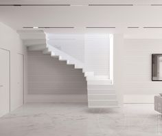 Amazing modern staircase designs, including open sided staircases, floating staircase designs, modern spiral staircases, plus bespoke spinals and banisters. Floating Staircase, Modern Staircase, Staircase Design, Staircase Railings, Spiral Staircase, Staircases, Steps Design, Design Ideas, Dream House Interior