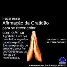 Faça essa Afirmação da Gratidão para se Reconectar com o Amor  universe natural