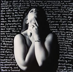 """Anxiety #8  by Rosa Lee Ward    7.5 x 7.5"""" silver gelatin print and silver pen."""