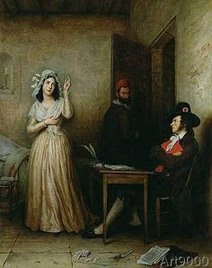 M.F. Thomas - Charlotte Corday (1768-93) Questioned in her Cell, c.1836