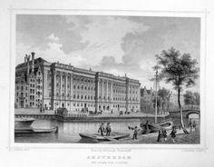 Amsterdam-Paleis-van | Herkomst : J.L. Terwen - Het Koningrijk der Nederlanden, afm. 14 x 20 cm Staalgravure 1860