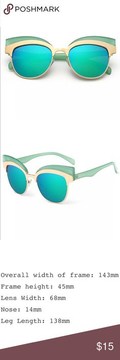New✨ Aqua Green & Gold Retro Cateye Sunnies 😍✨ New✨ Aqua Green & Gold Retro Cateye Sunnies 😍✨  🔸Brand New✨ 🔸PRICE IS FIRM- already listed at lowest price  🔸If you want to save please look into bundling  🔸In Stock 🔸No Trades 🔸Will ship same day as long as order is received by 1:00pm PST Accessories Sunglasses