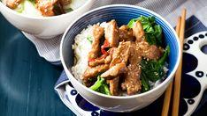 Sesame pork stir-fry recipes for two recipes fry recipes Wok Recipes, Stir Fry Recipes, Potluck Recipes, Asian Recipes, Cooking Recipes, Ethnic Recipes, Pork Stir Fry, Fried Pork, Main Meals