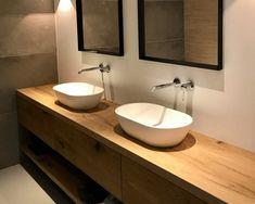 Badmeubel op maat - RestyleXL Bathroom Interior Design, Double Vanity, Ideas, Modern Bathrooms, Bath, House, Thoughts, Double Sink Vanity