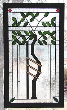 frank lloyd wright stained glass tree of life | ... to another of my sign or logo stained glass artworks, click here
