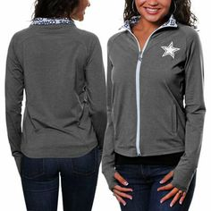 1c04c70f4 Dallas Cowboys Ladies Tessie Yoga Jacket - Gray