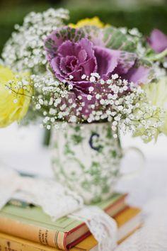 Rustic Newport Beach Wedding - Centerpiece Flower
