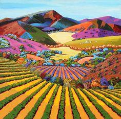 Gene Brown Hillside Splendor - Southwest Gallery: Not Just Southwest Art. Landscape Art, Landscape Paintings, Mtg Altered Art, Southwestern Art, Unicorn Art, Brown Art, Naive Art, Fine Art Gallery, Modern Art