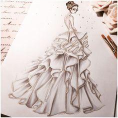 "1,246 Likes, 16 Comments - Victoria Jenkins Illustrations (@miss_victoria25) on Instagram: ""Alessandra ambrosia in Ralph &Russo @alessandraambrosio @ralphandrusso #oscars2017 #ralphandrusso…"""