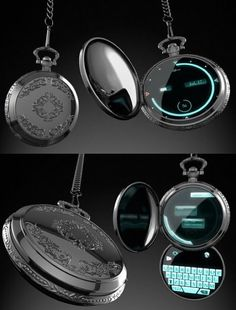 Old pocket watches are making a real comeback - living ideas and .- Alte Taschenuhren erleben ein echtes Comeback – Wohnideen und Dekoration Old pocket watches are experiencing a modernizing rebirth smart watch with touchscreen - Futuristic Technology, Technology Gadgets, Technology Design, Digital Technology, Cool Technology Gifts, Medical Technology, Energy Technology, Digital Pocket Watch, Pocket Watch Mens