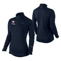 Navy 1/2-Zip Pullover - Ladies  Great new running shirt from Nike!!