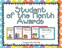 student of the month awards editable
