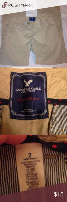 American Eagle khaki bootcut pants. American Eagle khaki bootcut pants size 2 short. In great condition. listed at $15 but may accept offers. 😄 American Eagle Outfitters Pants Boot Cut & Flare