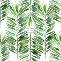 Aquarell-Palme Blatt nahtlose Muster