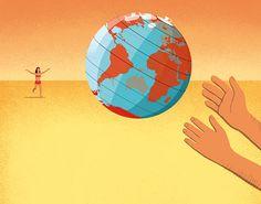 Davide Bonazzi - The world we'll leave our children. Client: Die Zeit. #conceptual #editorial #illustration #summer #world #global #future #children #hope www.davidebonazzi.com