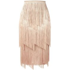 Tom Ford fringed skirt ($1,840) ❤ liked on Polyvore featuring skirts, bottoms, юбки, pink skirt, tom ford skirt, tom ford and fringe skirts
