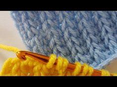 Tığ ile Tunus işi Selanik /Tunusian Brioche Crochet - YouTube