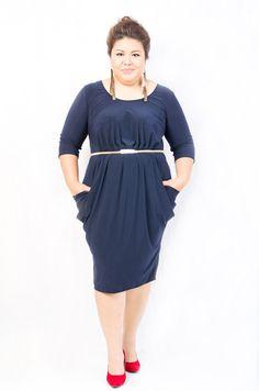 Mercy Dress in Dark Blue