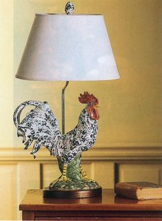 French Rooster Lamp Roosters Pinterest Country