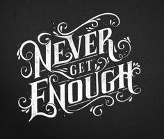 never.  Inspiring Typography Designs | Typography | Graphic Design Junction