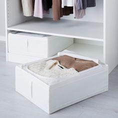 SKUBB Opbergtas, wit, 44x55x19 cm - IKEA Clothes Storage Boxes, Clothing Storage, Closet Storage, Closet Organization, Wardrobe Storage, Storage Bins, Bedroom Storage, Organization Ideas, Under Bed Storage