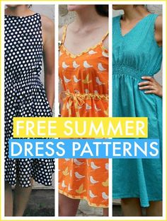 Free Summer Dress Patterns - Free simple to sew dress patterns that are perfect for summer