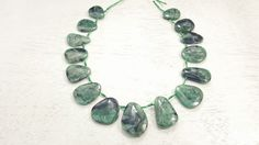 100 % Natural Brazilian Emerald Free-Form Shaped Beads 16inch Strand 81.5 Grams by BeadSeen on Etsy