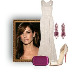 """Sandra Bullock in Elie Saab"" by dgia on Polyvore"