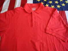 Tactical Polo Shirt Large Uniform Range Red Cotton SS Police Instructor #PROPPER #TacticalPoloShirt