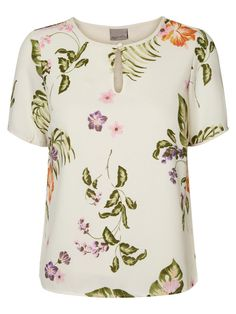 Fresh floral printed top #veromoda