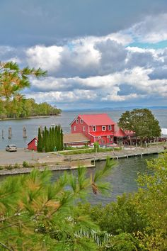Old Dock restaurant in Essex, NY, sits on Lake Champlain.  photo by Christian Metzler Photography