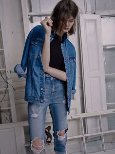 denim on denim thats destructed #distressed #style