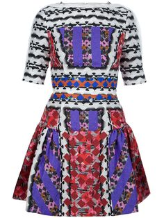 Peter pilotto Natalie Abstract Print Dress in Red | Lyst