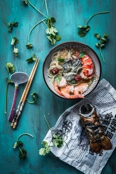 Seafood Noodle in Ginger Garlic Broth is a simple, easy, and satisfying noodle soup that you will definitely make over and over. Swap it out with other meat of your choice if you are not a seafood person. Works like a charm too. Fish Recipes, Seafood Recipes, Asian Recipes, Ethnic Recipes, Chinese Recipes, Sweet And Sour Recipes, Mediterranean Fish Recipe, Fish Soup, Seafood Soup