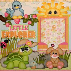 little explorer (girl)-l Scrapbook Quotes, Disney Scrapbook Pages, Kids Scrapbook, Scrapbook Sketches, Scrapbook Paper Crafts, Scrapbook Cards, Scrapbooking Digital, Scrapbooking Layouts, Use E Abuse