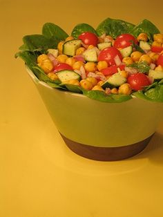 Chickpea and Spinach Salad - Good protein salad. (I claim no ownership to this photo)