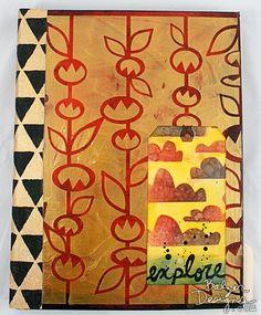 Tutorial! Molding Paste & The Stick Flowers Stencil with Julie Balzer - Balzer Designs