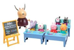 Peppa Pig Classroom Playset toy by Character. $72.99. childrens gift ideas. peppa pig classroom. childrens playset. childrens toys. peppa pig. A great play set with peppa pig, madame gazelle and the rest of peppas friends. hours of fun and imagination