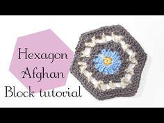 Charmed By Ashley: Flower Hexagon Afghan Block free pattern