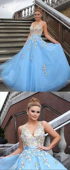 Light Blue Tulle Prom Dress, A-Line Applique Prom Dress, Halter Long Party Dress, Shop plus-sized prom dresses for curvy figures and plus-size party dresses. Ball gowns for prom in plus sizes and short plus-sized prom dresses for Sequin Prom Dresses, Blue Evening Dresses, V Neck Prom Dresses, Long Prom Gowns, Tulle Prom Dress, Prom Party Dresses, Bridesmaid Dress, Wedding Dresses, Beautiful Prom Dresses