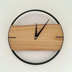 Naturel horloge murale brève horloge murale en bois de style en bois décor grand rond unique horloge 12 polegada numérique horloge pour salon