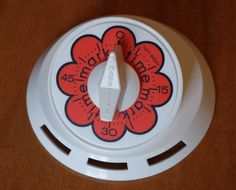 Mod Flower Power Vintage 1960s Mark Time Kitchen 60 minute Timer Mid Century Orange and White by retrowarehouse on Etsy Kitchen Timers, Orange Flowers, Cooking Timer, Flower Power, Color Pop, 1960s, I Shop, Cleaning, Etsy Shop