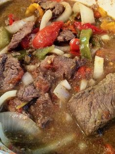 Crockpot Beef and Peppers