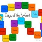 Free! Days of the Week game board...also a die available .