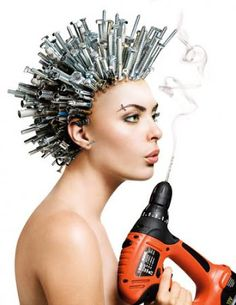 Weirdest Hair Designs #hair - Find More hair designs at Stylendesigns.com!