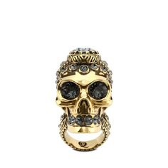 Victorian Jeweled Skull Ring