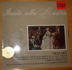 MOZART INVITO ALLA MUSICA A. VANDERNOOT 12  VINYL SOMERSET