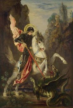 Gustave Moreau - Saint George and the Dragon
